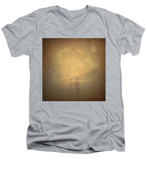The Ghost Turns Away Men's V-Neck T-Shirt