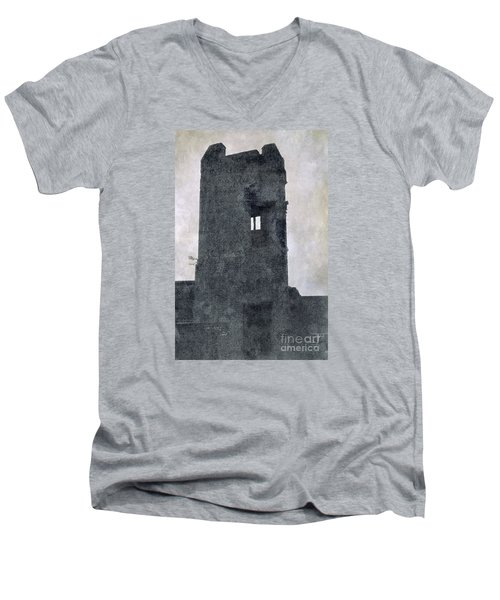 The Ghostly Tower Men's V-Neck T-Shirt by Linsey Williams