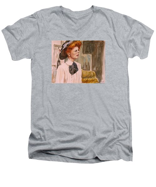 The Girl In The Movies Men's V-Neck T-Shirt by P Maure Bausch