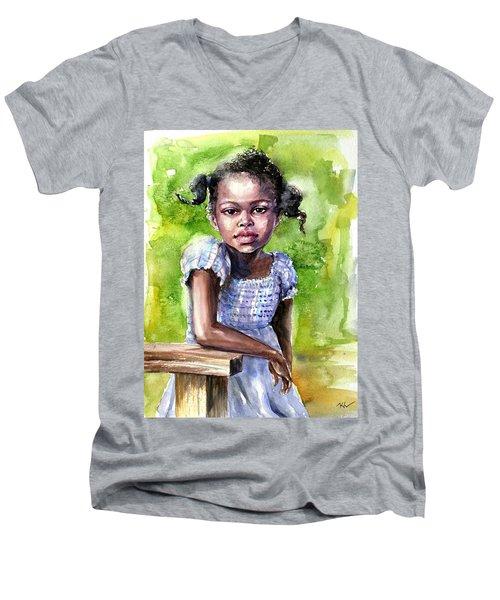 The Girl On The Veranda Men's V-Neck T-Shirt