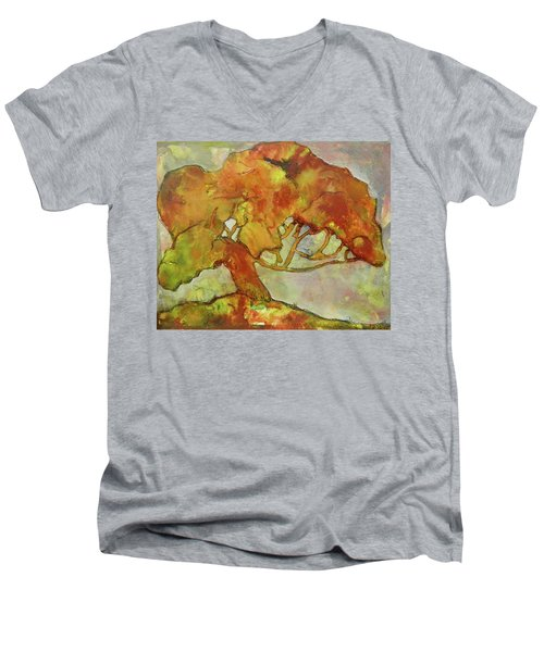 The Giving Tree Men's V-Neck T-Shirt by Terry Honstead