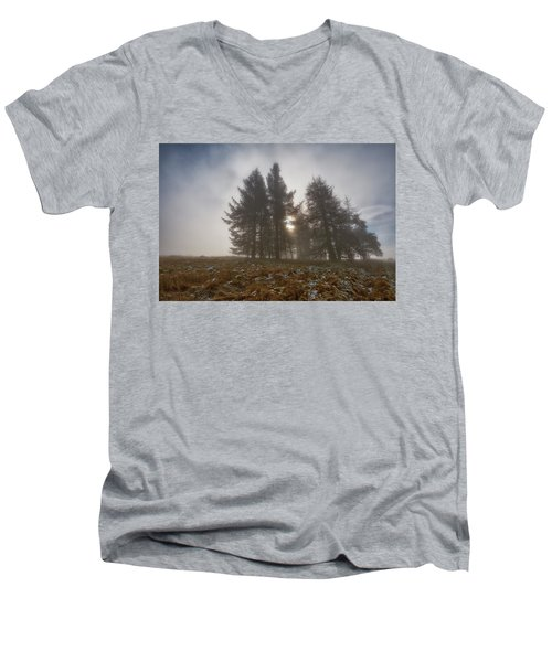 Men's V-Neck T-Shirt featuring the photograph The Gloomy Sunrise by Jeremy Lavender Photography