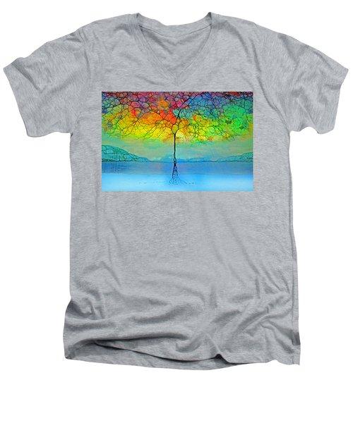 The Glow Tree Men's V-Neck T-Shirt