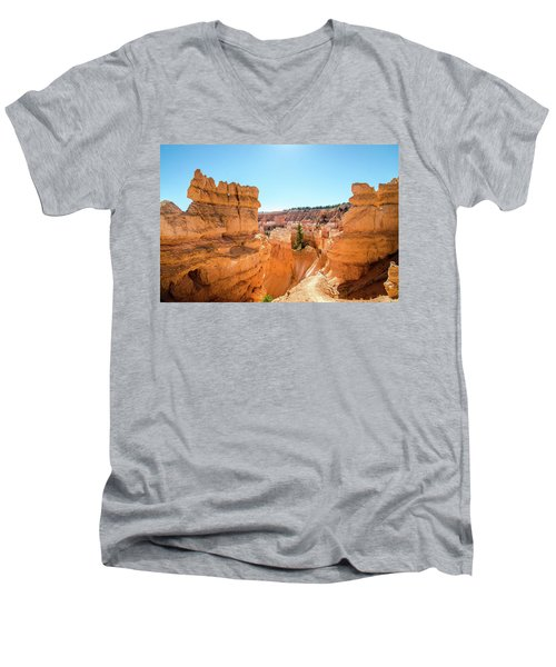 The Glowing Canyon Men's V-Neck T-Shirt