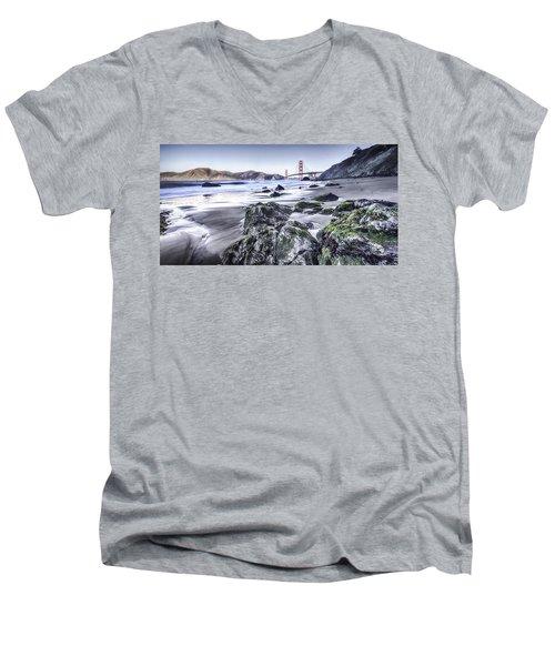 The Golden Gate Bridge Men's V-Neck T-Shirt