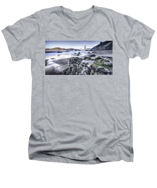The Golden Gate Bridge Men's V-Neck T-Shirt