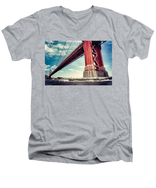 The Golden Gate Men's V-Neck T-Shirt