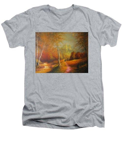 Golden Forest Of The Elves Men's V-Neck T-Shirt