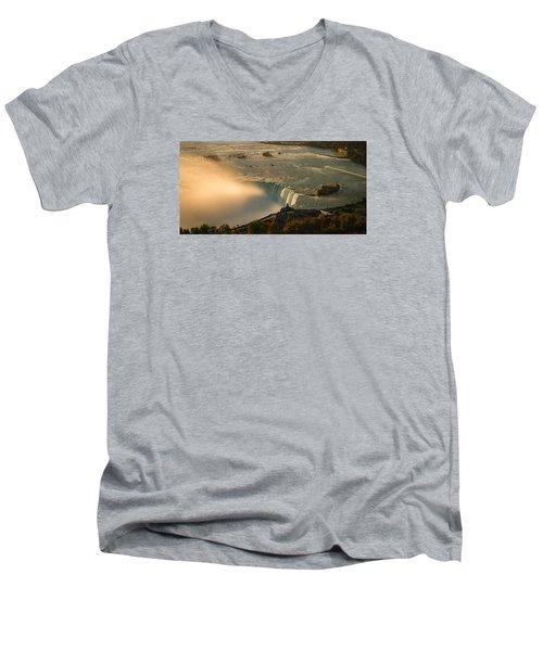 The Golden Mist Of Niagara Men's V-Neck T-Shirt