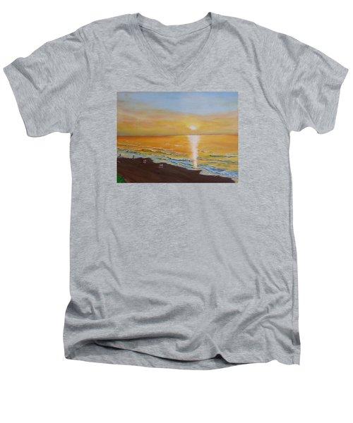 The Golden Ocean Men's V-Neck T-Shirt