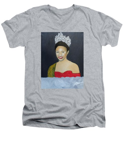 The Golden Queen  Men's V-Neck T-Shirt by Angelo Thomas