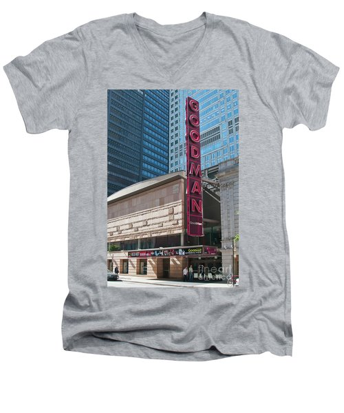 The Goodman Theater Men's V-Neck T-Shirt