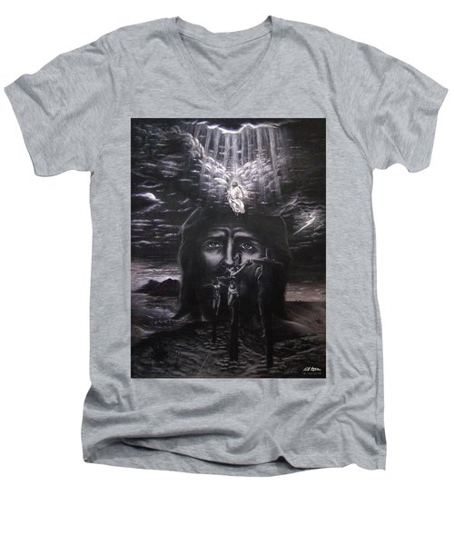 The Gospel Men's V-Neck T-Shirt by Bill Stephens