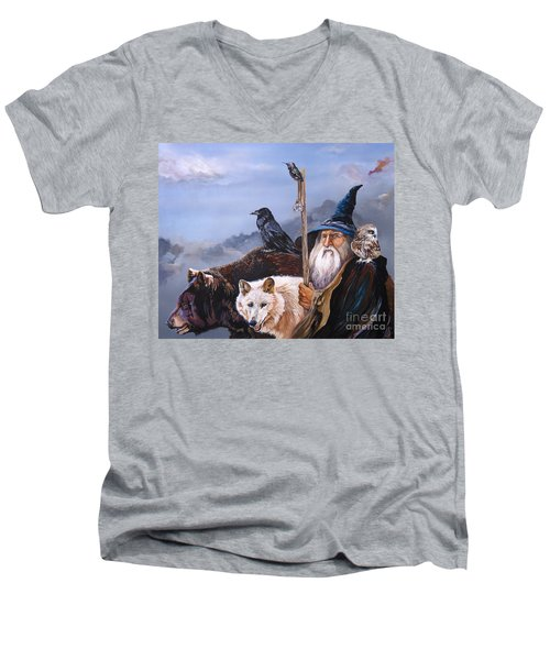 The Grand Parade Men's V-Neck T-Shirt by J W Baker