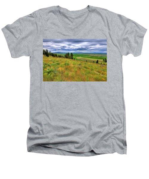 The Grasses Of Kamiak Butte Men's V-Neck T-Shirt