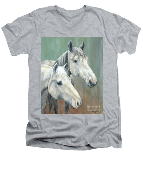 The Grays - Horses Men's V-Neck T-Shirt