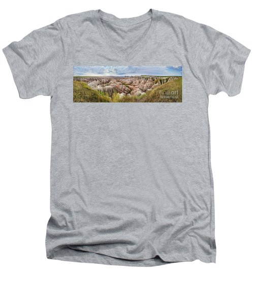 Deep And Wide Panorama Men's V-Neck T-Shirt