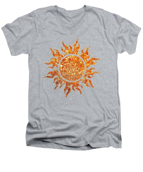 The Great Ball Of Fire Men's V-Neck T-Shirt