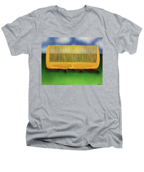 The Great Escape Men's V-Neck T-Shirt by Thomas Blood