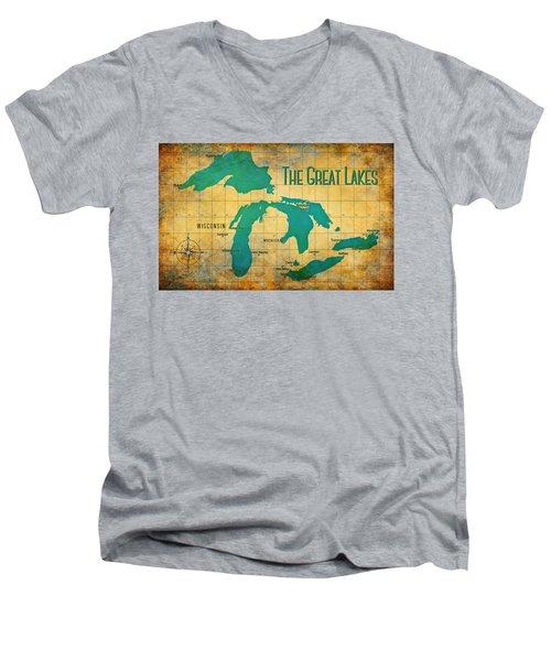 The Great Lakes Men's V-Neck T-Shirt