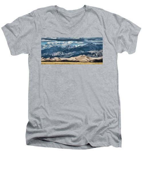 The Great Sand Dunes Panorama Men's V-Neck T-Shirt