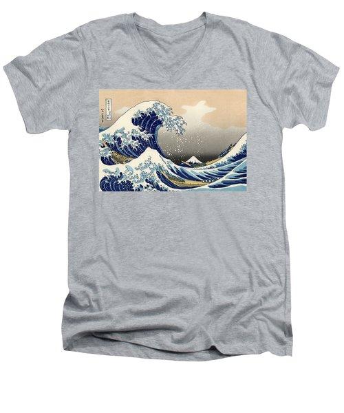 The Great Wave Off Kanagawa Men's V-Neck T-Shirt
