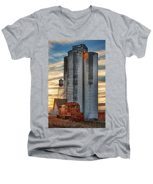 The Great Western Sugar Mill Longmont Colorado Men's V-Neck T-Shirt