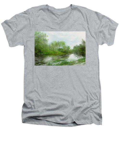 The Green Magic Of Ordinary Days Men's V-Neck T-Shirt