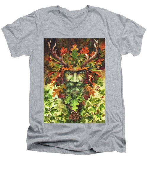 The Green Man Men's V-Neck T-Shirt