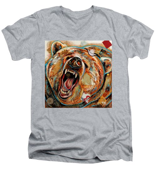 The Grizzly Bear Men's V-Neck T-Shirt