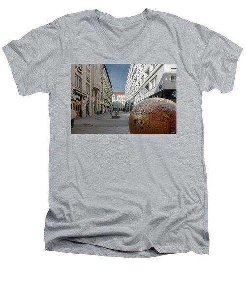 The Grounded Sun Zagreb Men's V-Neck T-Shirt by Steven Richman