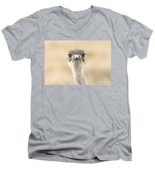Men's V-Neck T-Shirt featuring the photograph The Grump by Pravine Chester