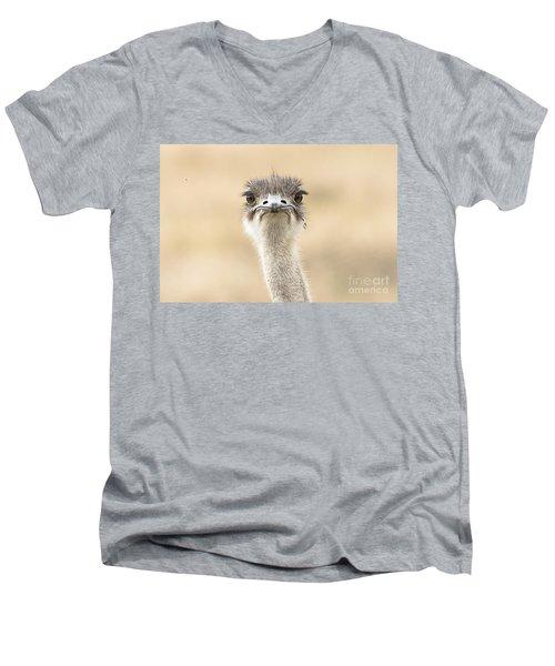 The Grump Men's V-Neck T-Shirt by Pravine Chester