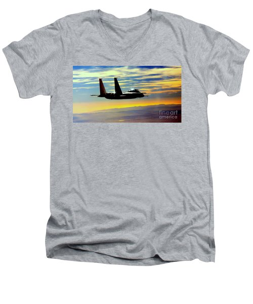 The Guardian Men's V-Neck T-Shirt by Greg Moores