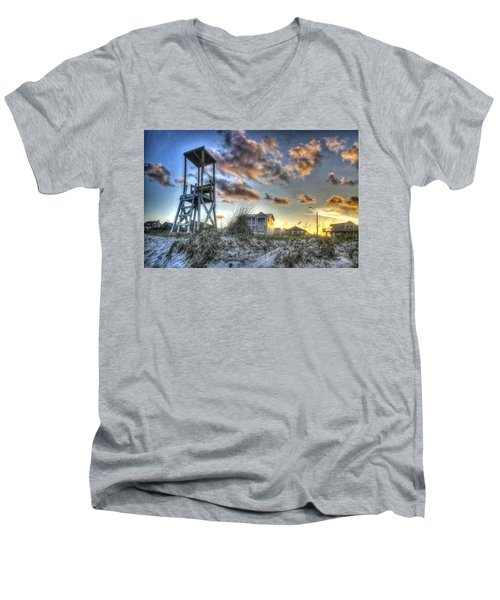 Men's V-Neck T-Shirt featuring the photograph The Guardian by Phil Mancuso