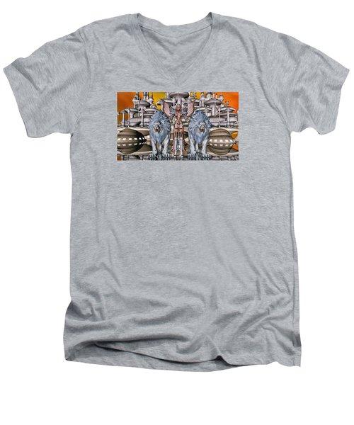 The Guardians Of The City Men's V-Neck T-Shirt