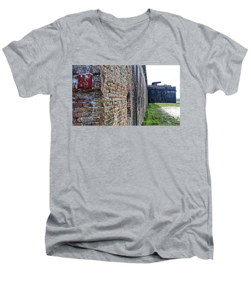 The Guns Of Ft. Pickens Men's V-Neck T-Shirt