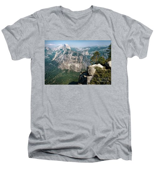 The Half Dome Yosemite Np Men's V-Neck T-Shirt