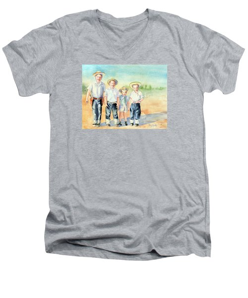 The Happy Wranglers Men's V-Neck T-Shirt