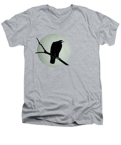 The Hawk Men's V-Neck T-Shirt by Mark Rogan