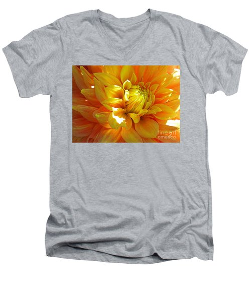 The Heart Of A Dahlia Men's V-Neck T-Shirt