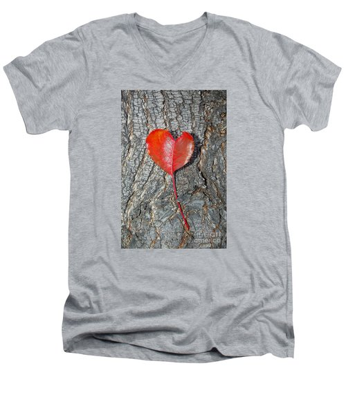 The Heart Of A Tree Men's V-Neck T-Shirt