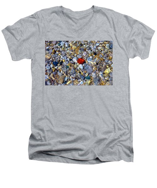 The Heart Of Lake Michigan Men's V-Neck T-Shirt