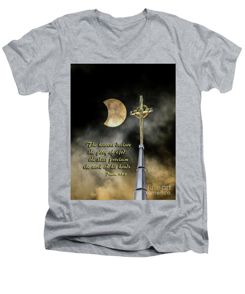 The Heavens Declare The Glory Of God Men's V-Neck T-Shirt
