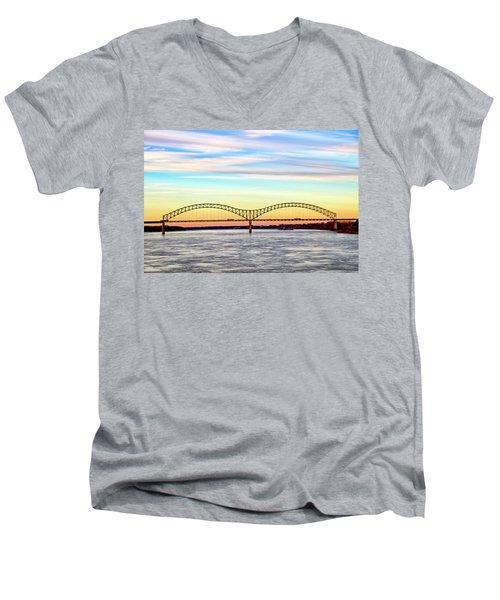 The Hernando De Soto Bridge Men's V-Neck T-Shirt