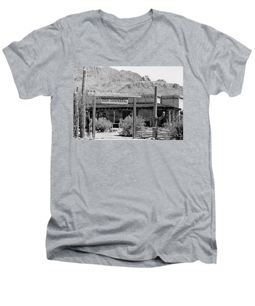 The High Chaparral Set With Sign Old Tucson Arizona 1969-2016 Men's V-Neck T-Shirt