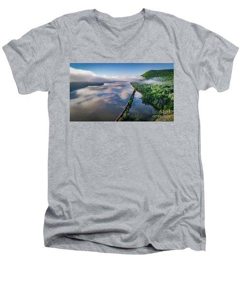 The Highlands Looking South Men's V-Neck T-Shirt