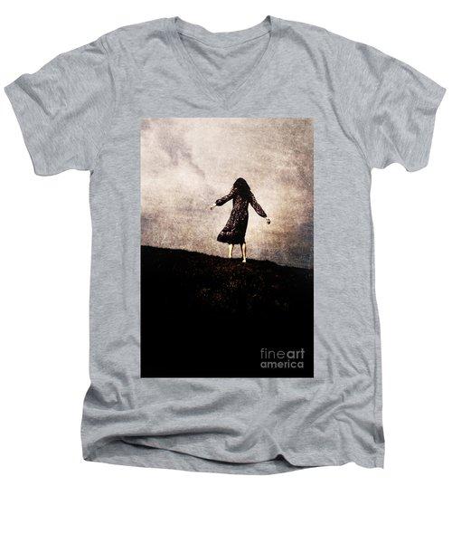 The Hill Men's V-Neck T-Shirt