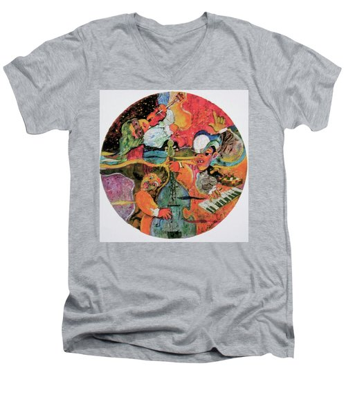 The Holland Jazz Trio Men's V-Neck T-Shirt by Lee Ransaw