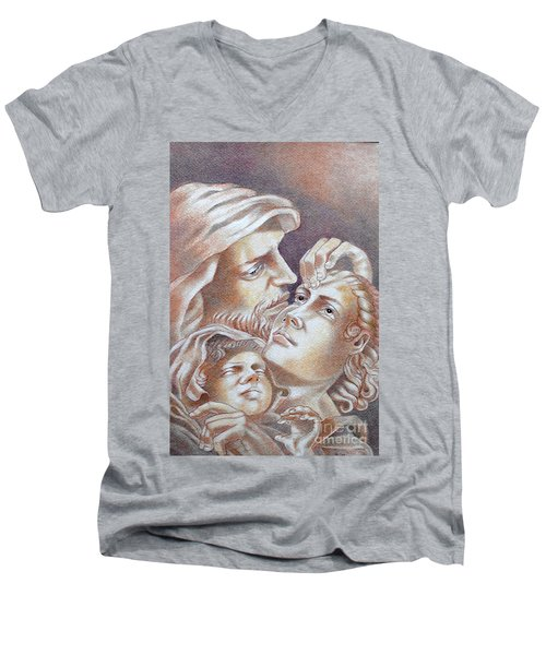 The Holy Family Men's V-Neck T-Shirt